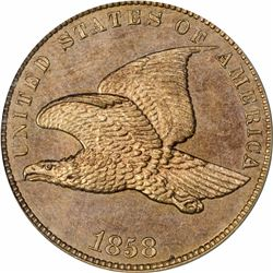 1858 Flying Eagle cent - Small Letters,  Laurel Wreath reverse - 5 leaf. J-191a. P-233. S-PT14. R5.