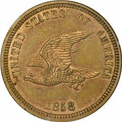 1858 Small Eagle, Oak Wreath. J-203. P-247. S-PT18. R5. PR64 PCGS (PS). 1st. Gen. Holder. Choice Pro
