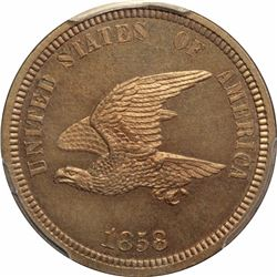 1858 Small Eagle cent / Agricultural Wreath. J-206, P-242, S-PT16. Rarity 5. PR65 PCGS Gem Proof (12