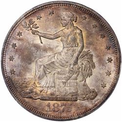1875 Type I Obverse/Type II Reverse. MS-63 PCGS CAC.
