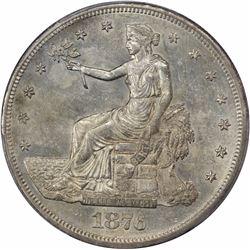 1876-CC Type I/II. Tall CC. AU-58 PCGS.