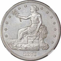1876-CC Type I/II. Tall CC. AU-55 NGC.