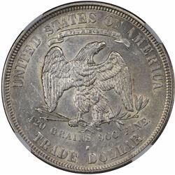 1876-S Type II/II. Minute S. AU-58 NGC.