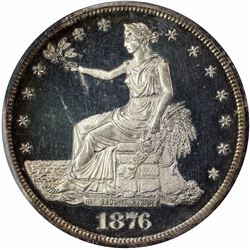 1876 Type I/II. Proof-63 DCAM PCGS. CAC.