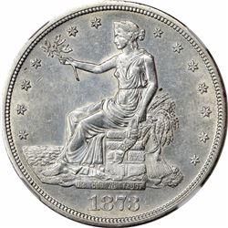 1873-S AU-58 NGC.