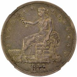 1877-S Large S. FS-802. Doubled Die Reverse. EF-40 NGC. CAC.