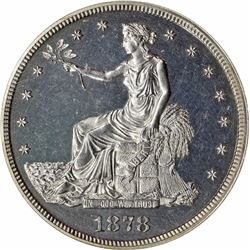 1878 Trade Dollar. Proof-63 Cameo NGC.