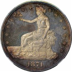 1874 Proof-64+ Cameo NGC.