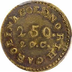 Undated (1831-1834) C. Bechtler $2.50 Gold. Kagin-5. Rarity-7. No 75 G, Fine Beads. AU-50 PCGS.