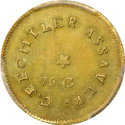 Undated (1831-1834) C. Bechtler $2.50 Gold. Kagin-9. Rarity-7. 75 G, With Star. EF-45 PCGS.