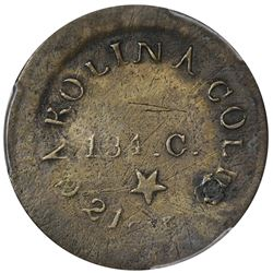 Undated (1834). C. Bechtler $5 Die Trial. Kagin-20 (Kagin-1 in the pattern section of Private Gold C