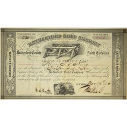 Rutherford Gold Company Stock Certificate