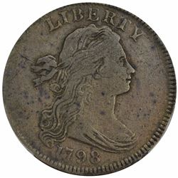 1798 Sheldon-158. First Hair Style. Rarity-4. VF-25 PCGS