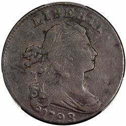 1798 Sheldon-174. Second Hair Style. Rarity-2. VF-35 PCGS.