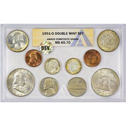 1951-PDS U.S. Mint 30-Piece Double Mint Set with Original Envelope. Certified by ANACS, verified ori