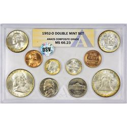 1952-PDS U.S. Mint 30-Piece Double Mint Set with Original Envelope. Certified by ANACS, verified ori