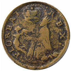 "(c.1663-1672) St. Patrick ""Farthing"". F15  PCGS."