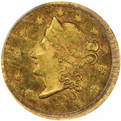 1854 FD Round ½ Dollar, BG-404. MS62 PCGS.