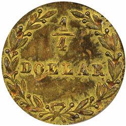 1881 Octagonal ¼ Dollar, BG-799BB. MS63 PCGS.