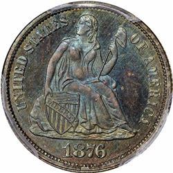1876-CC Specimen-66 BM (Branch Mint) PCGS. CAC. Fortin-121b. Type I Reverse.