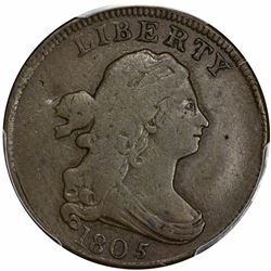 1805 Cohen-3, Breen-3. Small 5, Stems. Rarity-4. VF-20 PCGS.