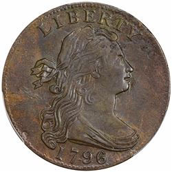 1796 Draped Bust. Sheldon-93. Single Leaves, Reverse of '95. Rarity-3. AU Details – Altered Surfaces