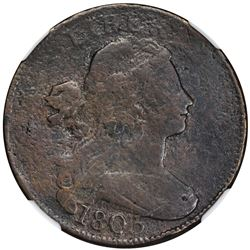 1803 Sheldon-264. Large Date, Small Fraction. Rarity-4+. Fine Details – Environmental Damage – NGC.