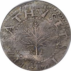 1652 Massachusetts Oak Tree Shilling. Noe-13 (R.6). VF35 PCGS. CAC.