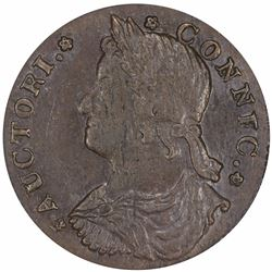 1787 Connecticut copper. Draped Bust Left. M.41.3-Y (R.2). MS61 BN PCGS.