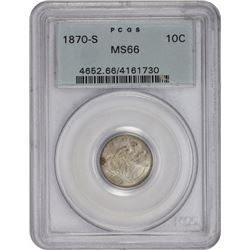 1870-S Fortin-101. MS-66 PCGS.