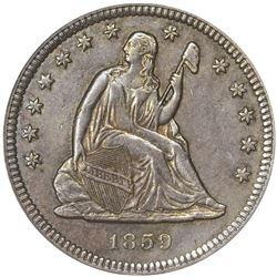 1859-S EF-45 PCGS. OGH.