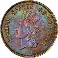 1859 Gold $1. Judd-256. Copper. Rarity-7. Proof-63 BN PCGS.