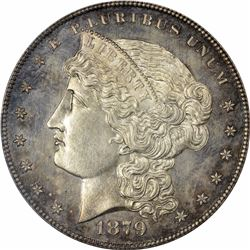1879 Metric Dollar. Judd-1618. Silver. Reeded Edge. Rarity-5. Proof-65 PCGS. CAC.
