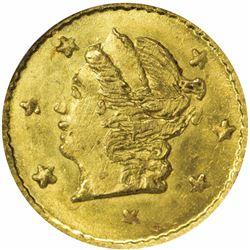 1868 Round ¼ Dollar, BG-806. MS66 NGC.