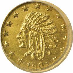 Alaska Pinch Series ¼ Pinch 1901. MS67 NGC.