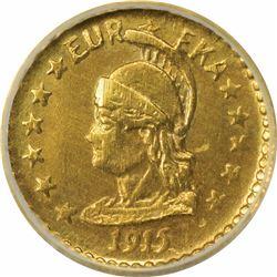 California Minerva Series ¼ Round 1915. MS68 NGC.
