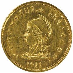 California Minerva Series ONE Round 1915. MS66 NGC.