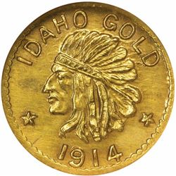 Idaho Series 1914 50c Size. MS66 NGC.