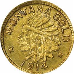 Montana Series 1914 25c Size. MS67 NGC.