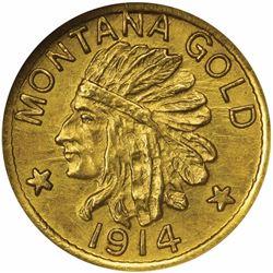 Montana Series 1914 $1 Size. MS67 NGC.
