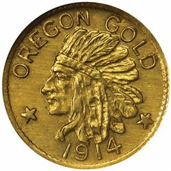 Oregon Series 1914 $1 Size. MS67 NGC.