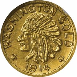 Washington Series 1914 50c Size. MS67 NGC.