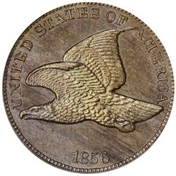 1856 Flying Eagle cent. Snow-3. MS-64 PCGS (Eagle Eye Photo Seal) OGH. Gem Unc (13: 4,4,5).