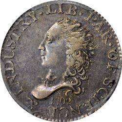 1792 Half Disme. AU50 PCGS.