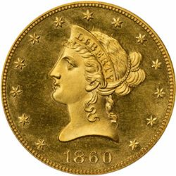 1860 Proof-65 PCGS. OGH.