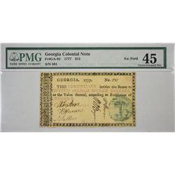 GA-92. 1777. $15 Colonial Note. PMG Choice Extremely Fine 45.