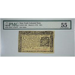 NY-190. March 5, 1776. $2/3 Colonial Note. PMG About Uncirculated 55.