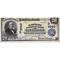 Jacksonville, Florida. Barnett NB. Fr.652. 1902 $20 Plain Back. Charter 9049. Very Fine.