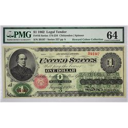 Fr. 16. 1862 $1 Legal Tender. PMG Choice Uncirculated 64.