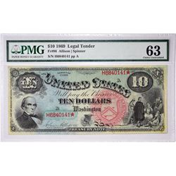 Fr. 96. 1869 $10 Legal Tender. PMG Choice Uncirculated 63.